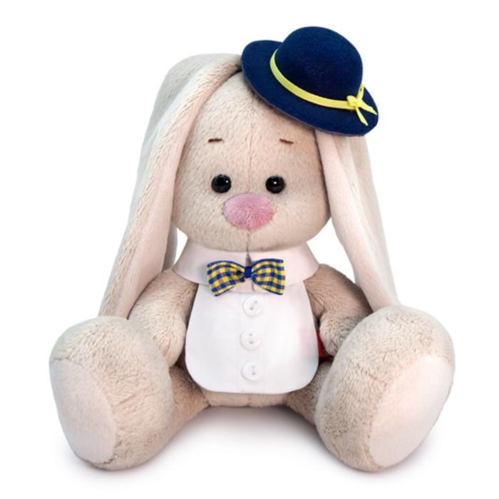 Мягкая игрушка «Зайка Ми», в котелке и манишке, 15 см - фото 4467878