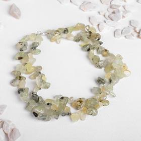 "Beads 2 strands baby ""prehnite"", 45cm"