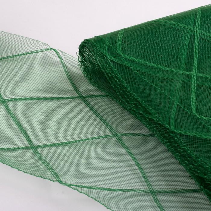 Регилин плоский «Клетка большая»,160 мм, 5 ± 0,5 м, цвет зелёный