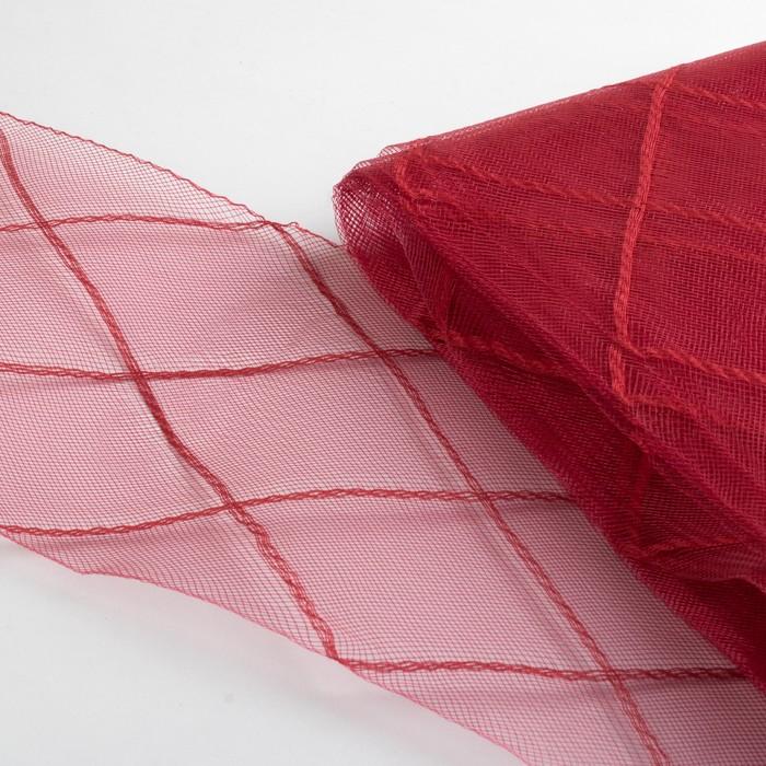 Регилин плоский «Клетка большая»,160 мм, 5 ± 0,5 м, цвет бордовый
