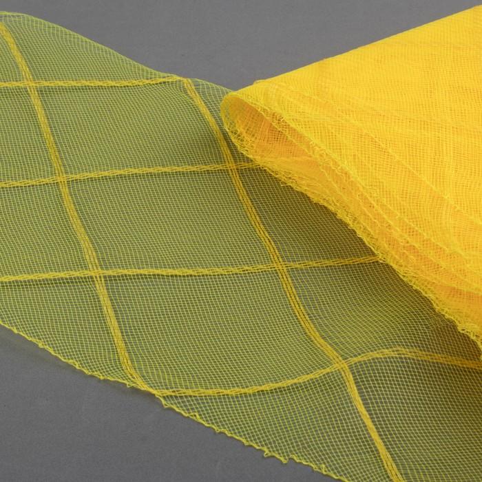 Регилин плоский «Клетка большая»,160 мм, 5 ± 0,5 м, цвет жёлтый