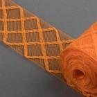 Регилин плоский «Клетка», 45 мм, 5 ± 0,5 м, цвет оранжевый