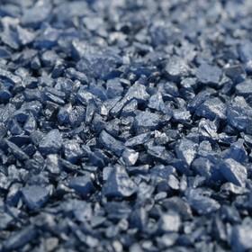 """Грунт """"Голубой металлик"""" декоративный песок кварцевый 250 г фр.1-3 мм"""