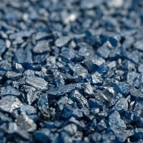 "Грунт ""Синий металлик"" декоративный песок кварцевый,  250 г фр.1-3 мм"