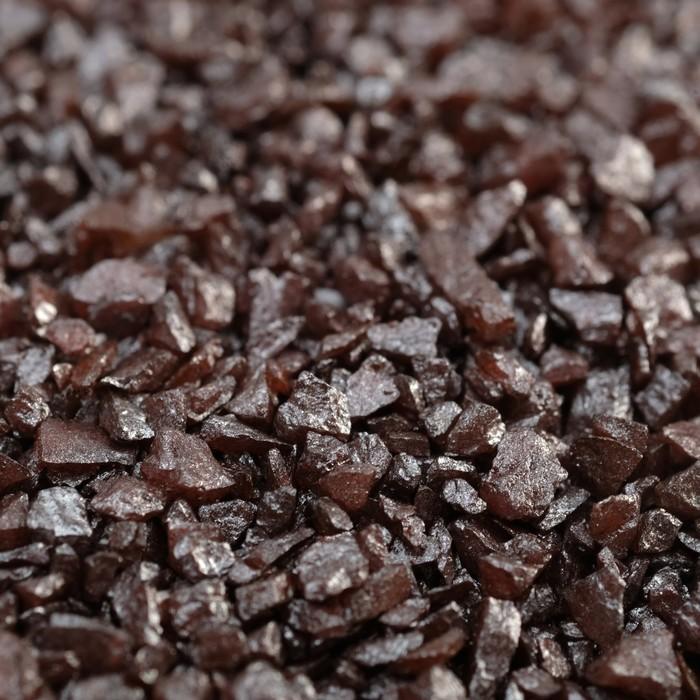 """Грунт декоративный  """"Шоколадный металлик"""" песок кварцевый, 250 г фр.1-3 мм - фото 699590"""