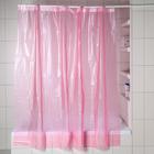 Штора для ванной 3D 180×180, EVA, цвет розовый