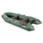 Лодка «Капитан Т330», слань+киль, цвет зелёный