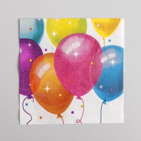 Салфетки бумажные «Кристальные шары», набор 12 шт., 33х33 см