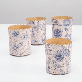 "Form paper for cakes ""Porcelain"", 7 x 8.5 cm"