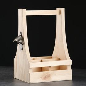 Box beer, with krivskoe under 4 bottles, 18×19×30 cm