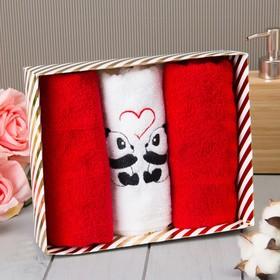 Набор полотенец «Панды» 30х60 см - 3шт