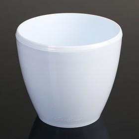 Кашпо со вставкой «Деко Твин», 1,5 л, цвет белый