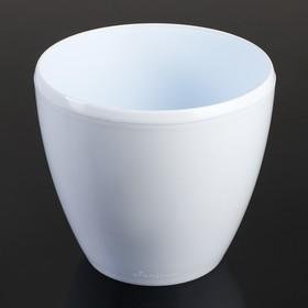 Кашпо со вставкой «Деко Твин», 4 л, цвет белый
