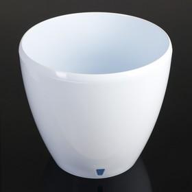 Кашпо со вставкой «Деко Твин», 12 л, цвет белый