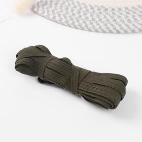 10mm elastic tape*10±1m dark green (PACKAGE 5PCS) CHP-10/10