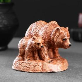 """Фигура """"Медведь с медвеженком"""" 7х8х7см"""