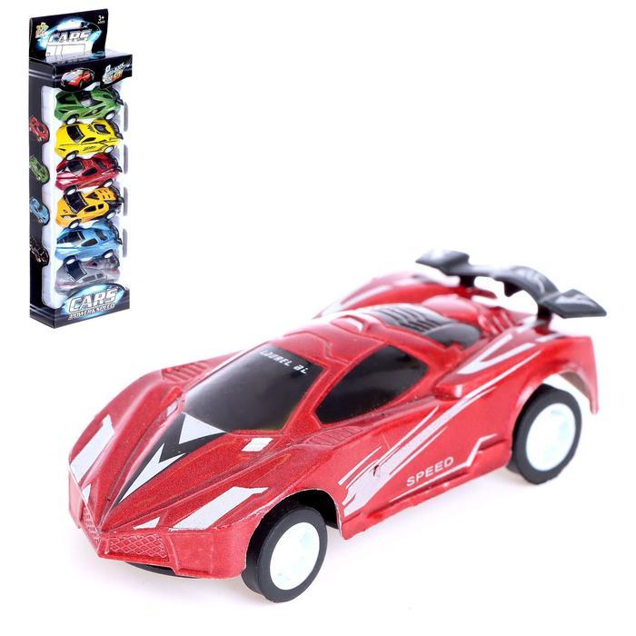 Машина инерционная «Суперкар», набор 6 штук МИКС