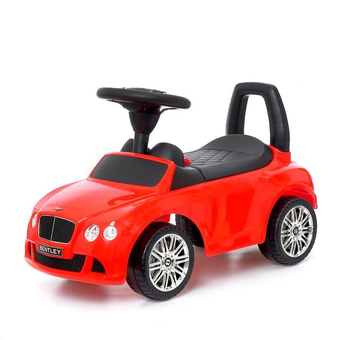 Толокар Bentley Continental GTC V8, звуковые эффекты, цвет красный - фото 105642442