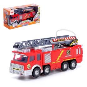 Машина «Пожарная», световые и звуковые эффекты, стреляет водой, подвижная лестница