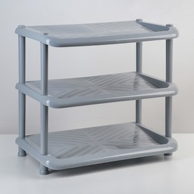 Этажерка для обуви «Комфорт», 3 яруса, 31×49×56 см, цвет серый