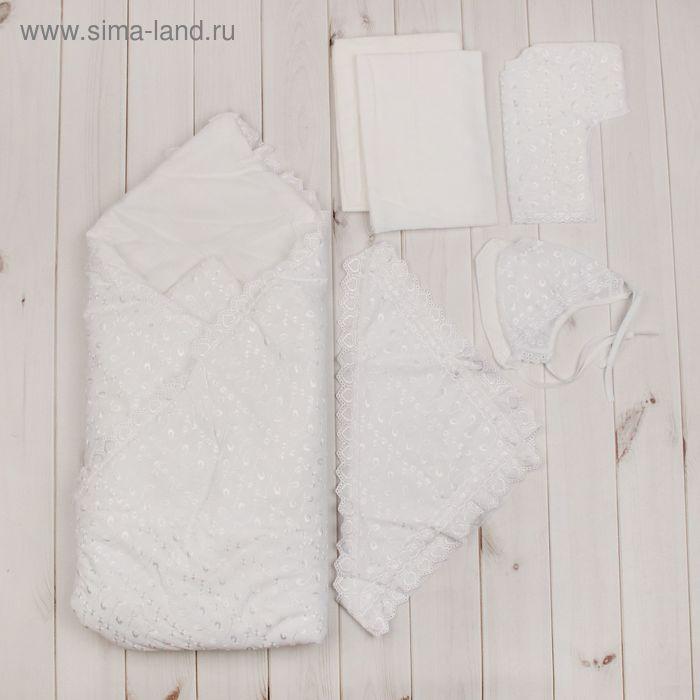 Комплект на выписку всесезонный (8 предметов), цвет белый