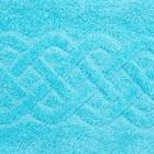 Полотенце махровое «Plait», цвет голубой, 100х150 см - фото 4672667