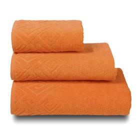 Полотенце махровое «Poseidon» цвет оранжевый, 100х150