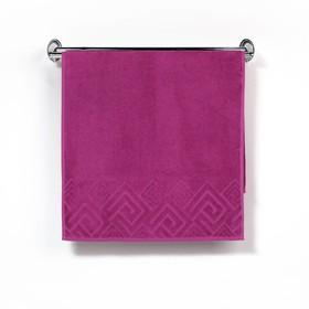 Полотенце махровое «Poseidon» цвет сиреневый, 100х150