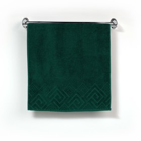 Полотенце махровое «Poseidon» цвет зелёный, 100х150