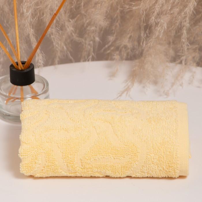Полотенце махровое «Радуга» цвет жёлтый, 100х150, 295 гр/м