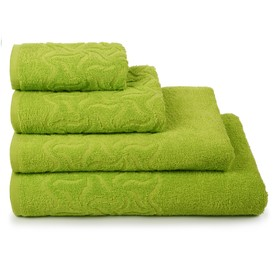 Полотенце махровое Радуга, цвет зелёный, 100х150 см