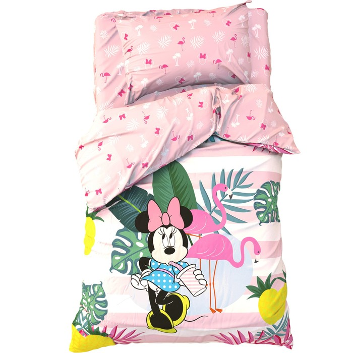 """Детское постельное бельё 1,5 сп """"Spring Palms"""", Минни Маус, 143*215 см, 150*214 см, 50*70 см -1 шт, поплин"""