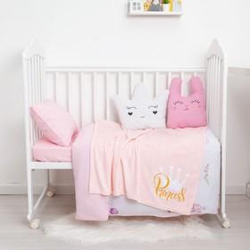 """Одеяло-плед с вышивкой """"Крошка Я"""" Princess, 90х100 см, велсофт"""