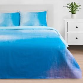 Постельное бельё «Этель» 1.5 сп Blue grade 143*215 см, 150*220 см, 50*70 см - 2 шт