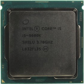Процессор Intel Core i5-9600K ORIGINAL, 3.7GHz, 6core, SVGA, UHD 630, 9Мб, 95W, OEM