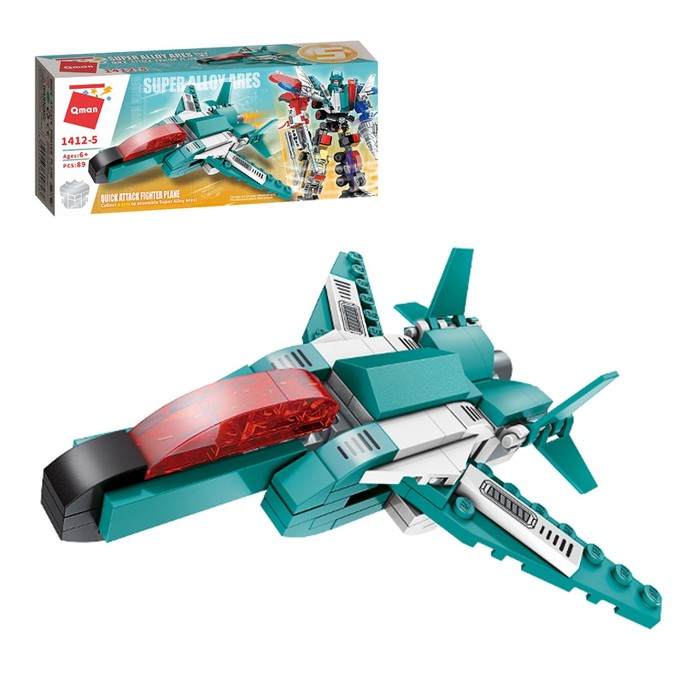 Конструктор Робот «Cобери трансформера», 89 деталей - фото 105635167
