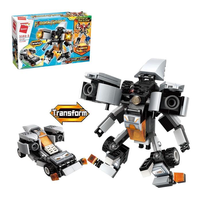 Конструктор Робот «Трансформер», 136 деталей - фото 105635180