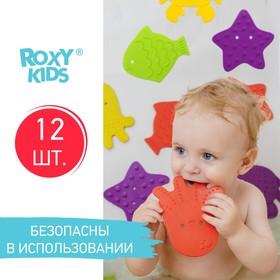 Набор антискользящих мини-ковриков для ванны 12 шт., цвет МИКС в наличии