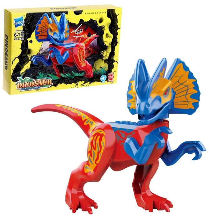 Конструктор Дино Diophosaurus sinensis hu, звуковые эффекты - фото 76683605