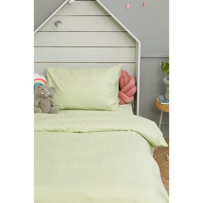 Детское постельное бельё Этель «Салатовая нежность» 1.5 сп, цвет зелёный, 143х215 см, 150х214 см, 50х70 см - фото 652680