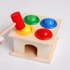 Деревянная игрушка «Стучалка» 11×11×9 см - фото 105592386