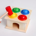 """Wooden toy """"Stuchalka"""" 11х11х9 cm"""