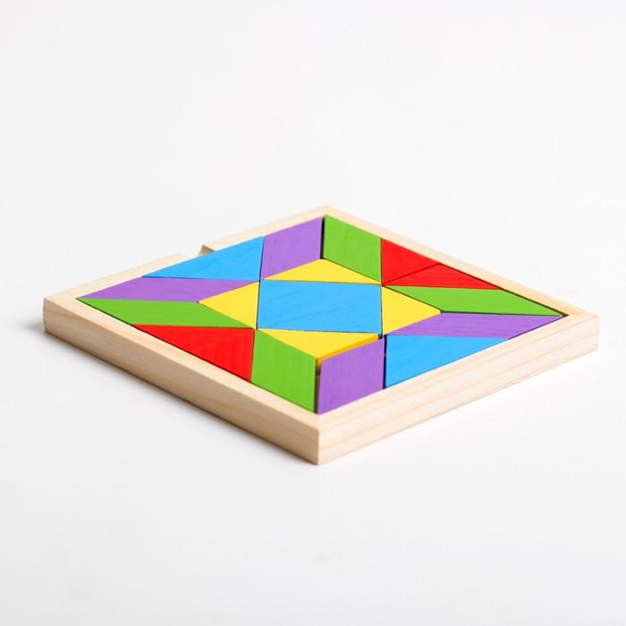 Деревянная игрушка «Танграм» 16×16×1,5 см