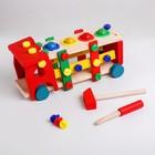 Деревянная игрушка «Конструктор - забивайка машинка» 31,5×13×12 см