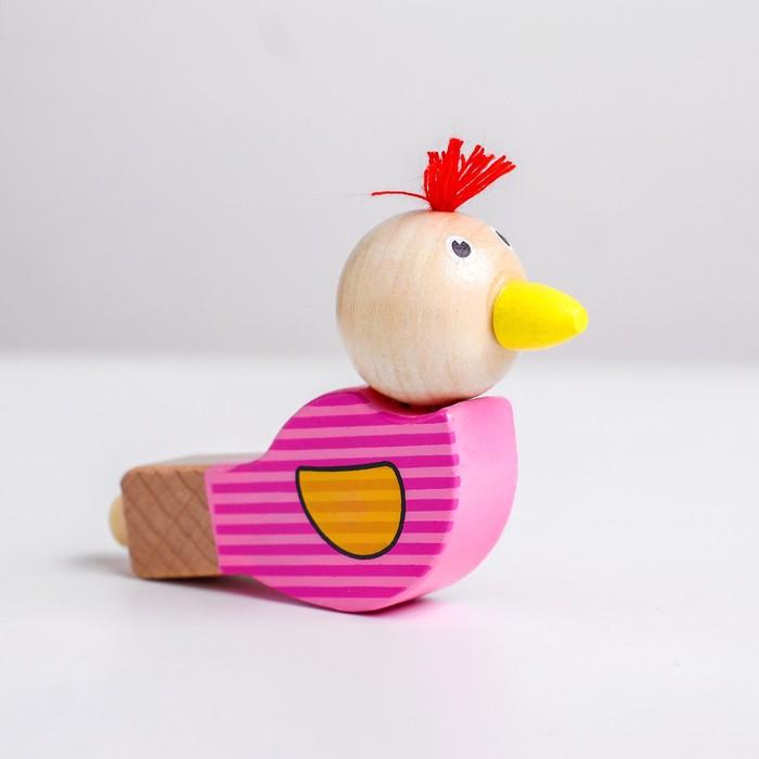 Деревянная музыкальная игрушка «Свисток - птенчики» 8,5×1,5 см