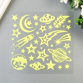 """Светящаяся наклейка Room Decor  """"Звёздное небо"""" 18х18 см"""