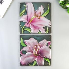"""Объёмные наклейки Room Decor """"Цветущие лилии"""" 32х60 см"""