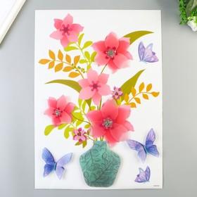 """Многослойные наклейки Room Decor """"Букет цветов"""" 29х41 см"""