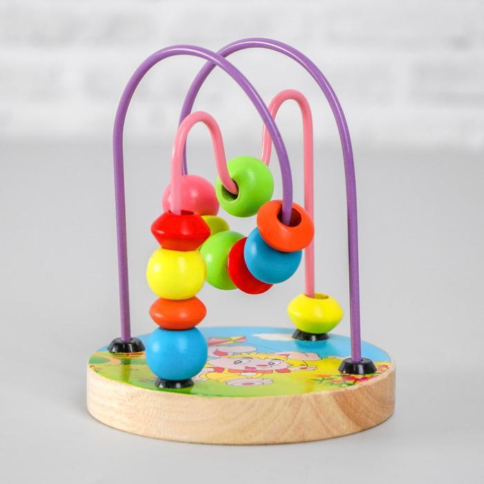 Деревянная игрушка «Серпантинка №1» 12,5×9,5×9,5 см