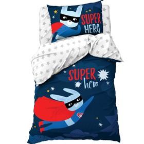 Постельное бельё «Этель» 1.5 сп Super hero 143*215 см, 150*214 см, 50*70 см -1 шт,100% хл, бязь